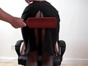 Secretary bare bottom paddling