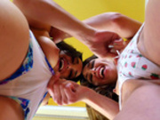 Riley Reid and Gabriella Paltrova play with each other's camel toe
