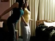Hot Pakistani girl & friend dancing in bedroom