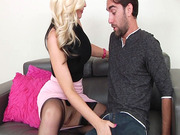 Alena Croft seduces her young neighbor, pressing her big tits into him