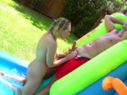 Kagney Linn Karter gets wet and wild in private water park