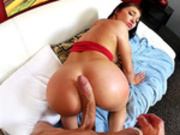 Round ass Cyrstal Rae fucked with that massive cock doggy style