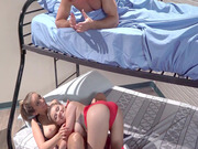 Layla London and Marsha May disturb their roommate Sean Lawless