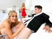 Wife to be Brandi Love gets caught sucking young cock