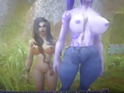 Human and Night Elf Sluts Get Creamed!
