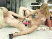 Chicas Loca - Babelicious Spanish lesbians dildo-fucking each other