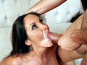 Ava Addams gets her face splattered with cum