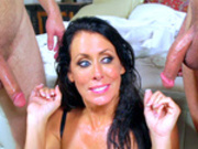 Slutty wife Reagan Foxx caught taking facial cumshots