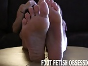 I want my feet covered in your hot cum
