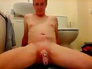Sissy ken attempts to cum through dildo play again