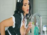 Brazilian teen Gina Valentina takes huge cock pussy creampie