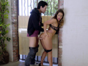 Cheating wife Eva Lovia fucked by her neighbor outside