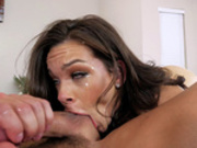 Kimber Woods sucking balls and rimming the asshole