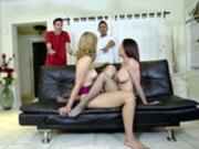 Kendall Kross gets caught tribbing with her boyfriends hot mom Diamond Foxxx