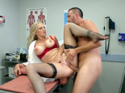 Fertility clinic Dr. Julia Ann gets her pussy fucked by her patient