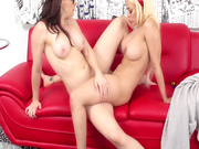 Busty MILFs Chanel Preston and Luna Star playing lesbo games