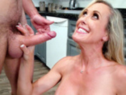Happy stepmom Brandi Love gets to taste some young cum today