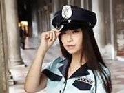 Black pantyhose lady police officer 3