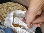 Cum in housemate Jess's used panties