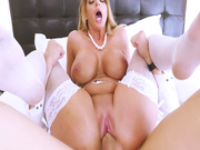 Busty bombshell Brooklyn Chase rides the hard boner