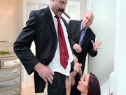 Monique Alexander sucks cock in front of her husband