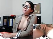 Webcam in her office