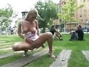 Street pee in public voyeur