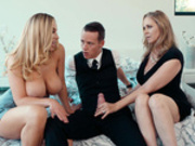 Hot threesome with Julia Ann, Olivia Austin and Justin Hunt