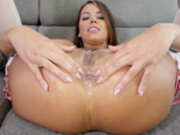 Amazing hottie Adriana Chechik plays with butt plug