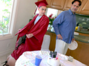 Students Jynx Maze and Juan celebrate their graduations