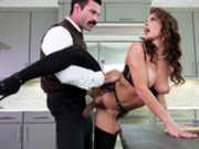 Cheating wife Keisha Grey fucked in the kitchen