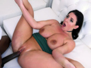 Angela White's pussy swallows a big black anaconda