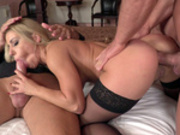 Nikky Thorne getting assfucked as she sucking cock