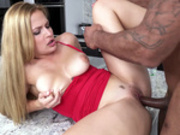 Sloan Harper penetrated with big black sausage