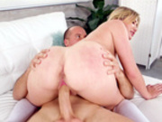 Blonde Zelda Morrison enjoys riding Sean Lawless' big cock