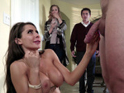 Madison Ivy gets caught with a big cock in her face