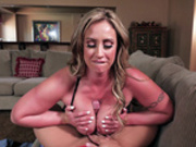 MILF Eva Notty titty fucks the pizza man