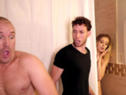 Teen Haley Reed gets caught cheating with cum all over her face