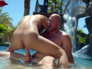 Ella Knox rides Johnny Sins long hard cock in the pool