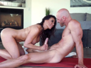 Sexy Milf Kendra Lust sucks on Johnny Sins's big hard cock