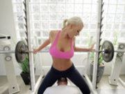 Bench Press My Biddy Featuring London River - Brazzers HD