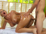 London River enjoys a nice oily doggy style fucking by her sons best friend