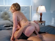 Round ass blonde Giselle Palmer rides Keiran's big dick reverse cowgirl style
