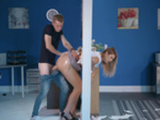 Nikky Dream getting slammed in her big wet butt while stuck threw a wall
