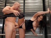 Sexy latina Autumn Falls gets fucked hard in an elevator