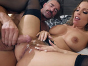 Naughty maid Britney Amber gets what she wants her pussy creampied