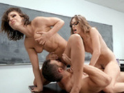 Adriana Chechik and Kimmy Granger giving sex ed lessons
