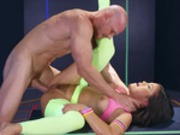 Fluorescent asian babe Kendra Spade pounded with jack hammer of a cock