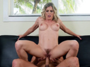 Cory Chase takes a ride on her neighbor Damon Dice's hard cock