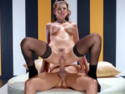 Sexy Michele James takes a wild ride on Xander Corvus' stiff cock